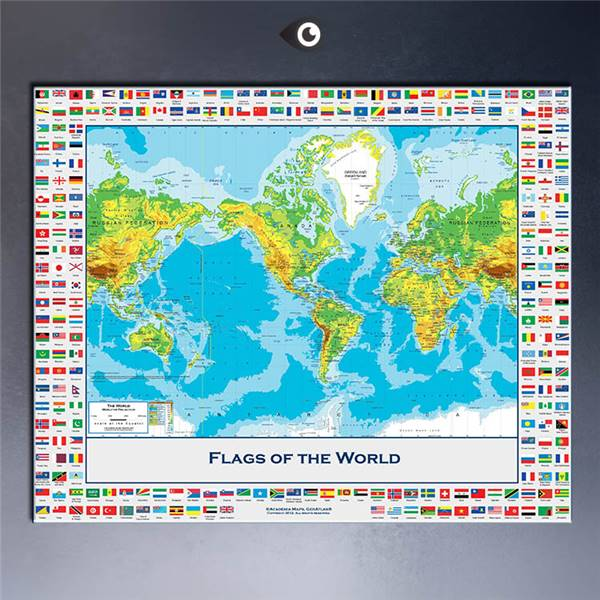 Free Shipment Large Map Of The World Poster 61x81cmWith Country
