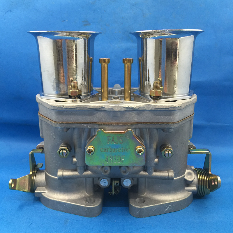 NEW 48 IDF 48IDF CARBURETTOR CARBY oem carburetor + air horns replacement for Solex Dellorto Weber EMPI CARBURETOR new 44 idf 44idf carburettor carby replacement for solex dellorto weber empi carby