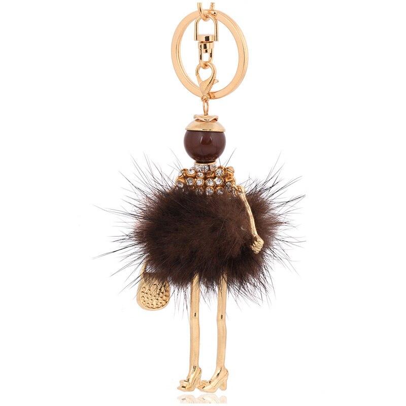 """15/"""" Rabbit Hair Fur Long Tail Key Chain Key Ring Fur Tassel Bag Decor"""