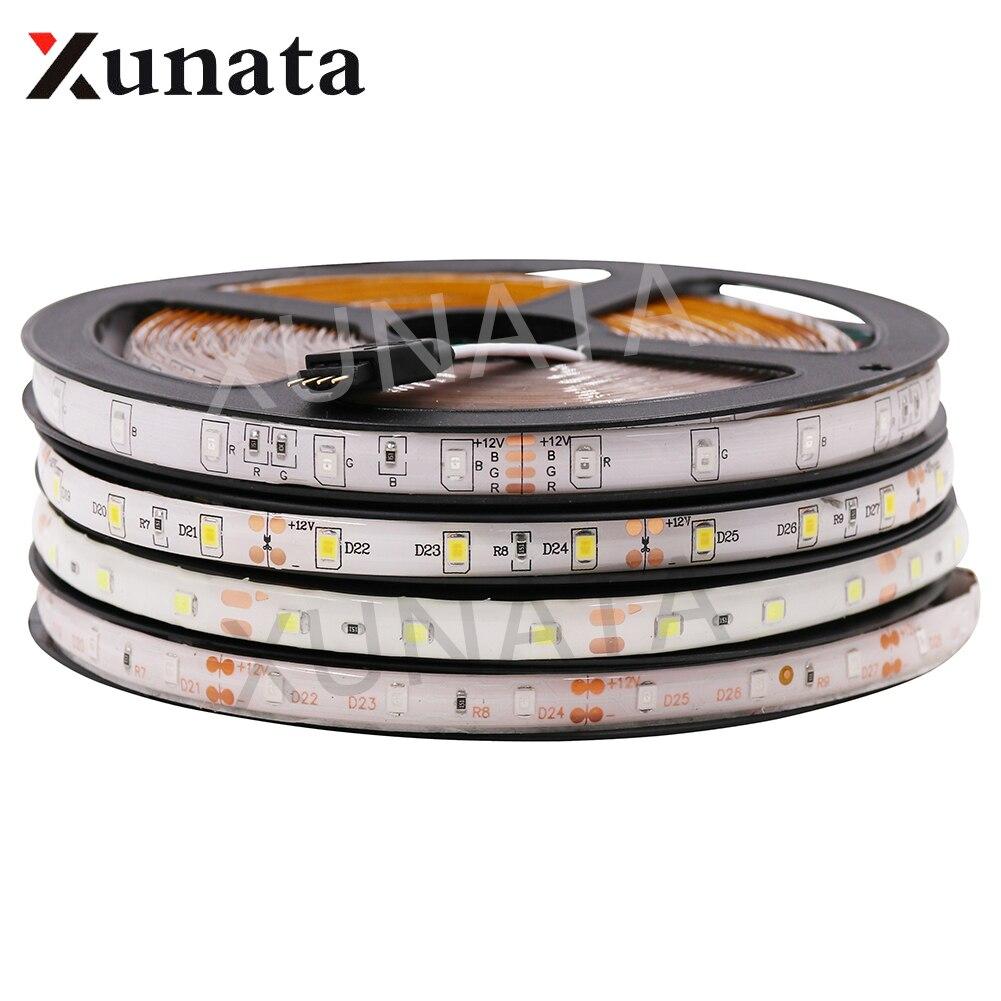 5M 5050 3528 DC12V 60led/m Light Lamp Waterproof RGB/White Warm/ White/Blue/Green/Red Ribbon Tape Led Fiexble Led Strip Light