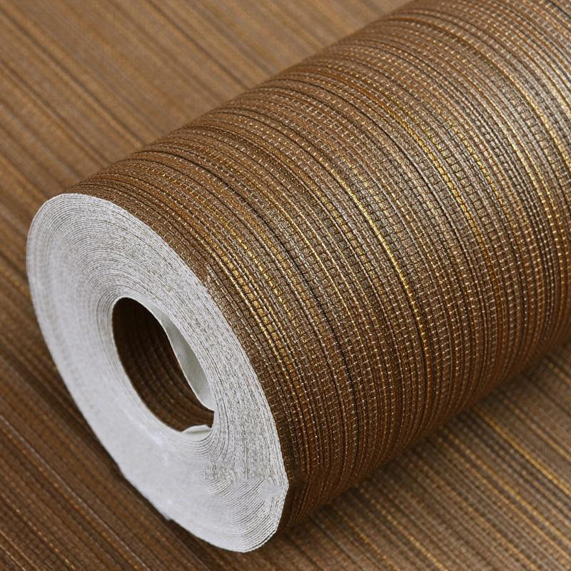 Papier peint texturé moderne couleur unie paille papier peint Horizontal Faux tapis lavable vinyle bande verticale rouleaux de papier peint