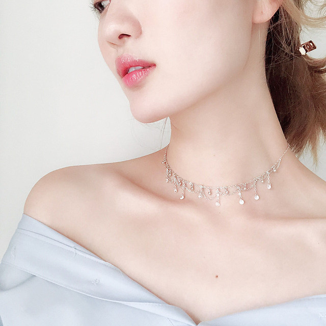 Necklace Exquisite Popular Womens Female Korean Fashion Wild Simple Temperament Clavicle Chain Birthday Gifts