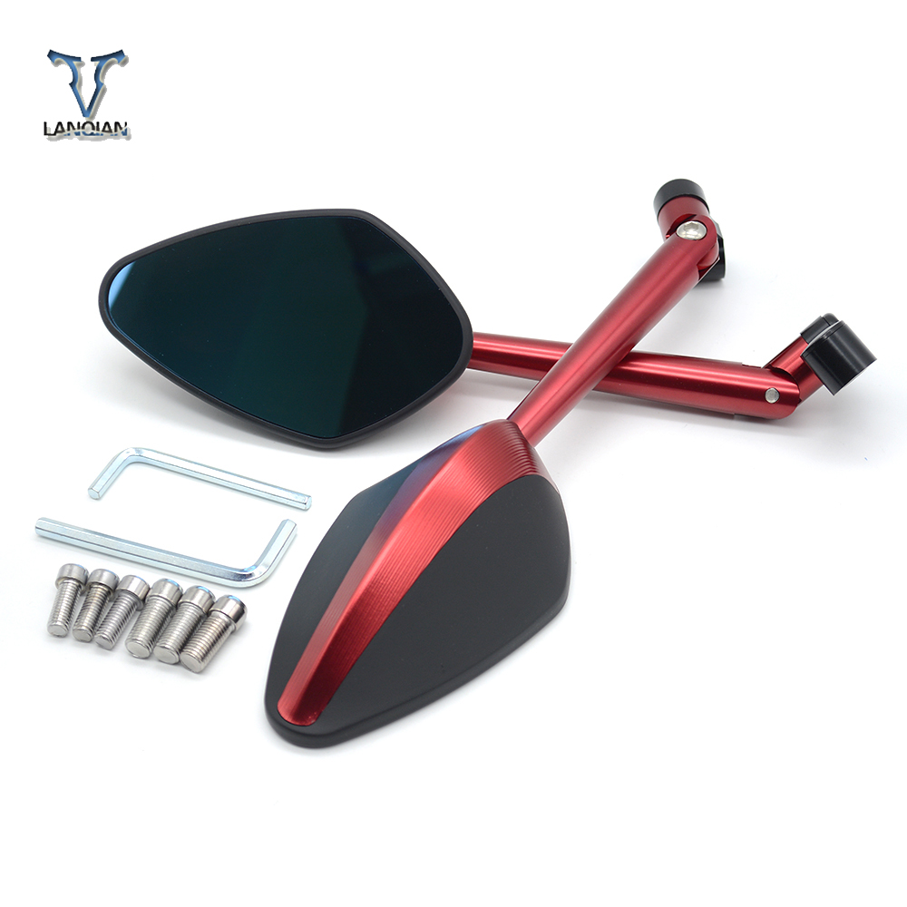 Universal CNC Motorcycle Rearview Mirrors Rear View Side Mirror For Honda cbr300r cb500f cb500x GROM rc51