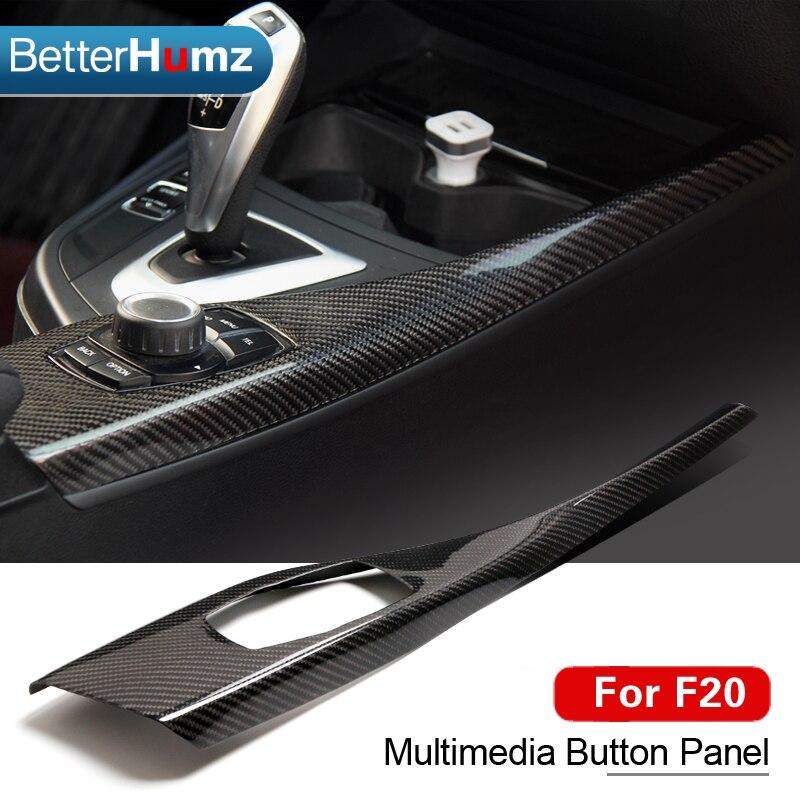 For BMW F20 F21 Carbon Fiber Multimedia Button Panel Cover Interior Trim Car Styling Sticker 1