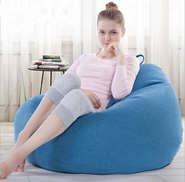 Creative Lazy Bean Bag Sofa Tatami Bedroom Leisure Reclining Chair Casual Fabric Removable Living Room