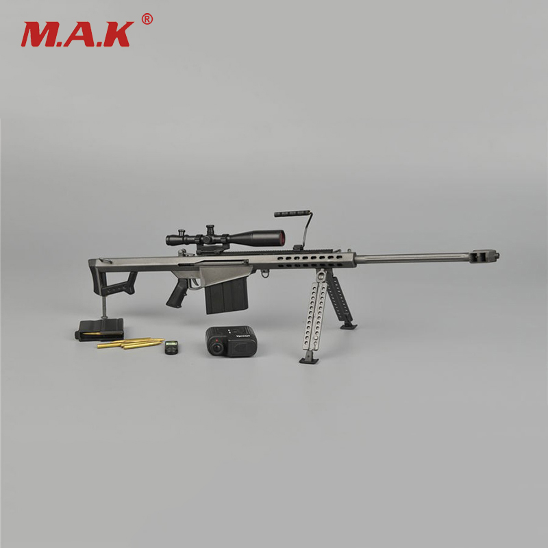 1/6 Metal Color Sniper Rifle Gun Model Barrett M82A1 SASR Weapon Model for 12 inches Action Figure Accessories 1 6 scale metal color cheytac intervention m 200 sniper rifle weapon model toys zy15 11 for 12 action figure accessories