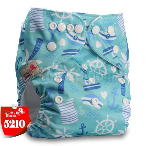 Littles& Bloomz детские моющиеся многоразовые подгузники из настоящей ткани с карманом для подгузников, чехлы для подгузников, костюмы для новорожденных и горшков, один размер, вставки для подгузников - Цвет: 5210