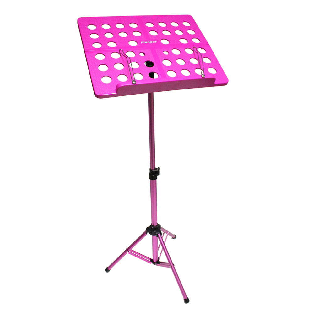 New Flanger Folding Music Tripod Stand Holder Sheet Aluminum Alloy+ABS + Carrying Bag Musical Instruments colourful sheet folding music stand metal tripod stand holder with soft case with carrying bag free shipping wholesales