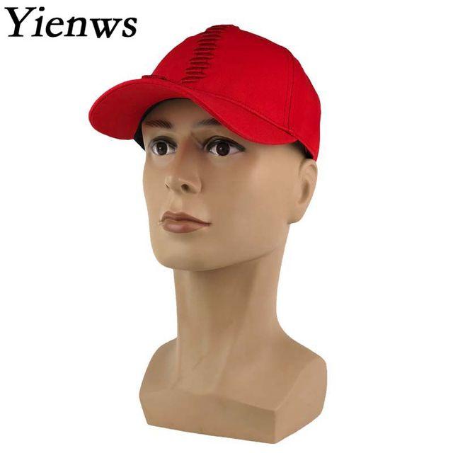 Yienws Winter Baseball Cap Women Kpop Curve Birm Plain Baseball Caps Girl  Red Hats Gorras Planas Snapback Hip Hop Caps YIC059 747ec0344f0