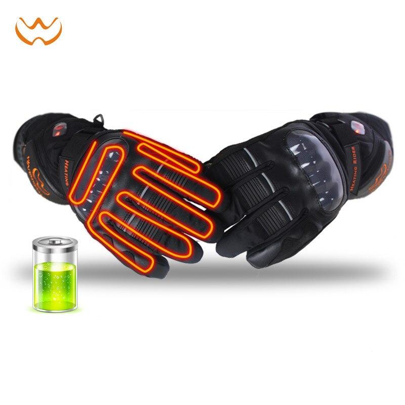 Новинка 11,11, высокоумные электрические перчатки, зимние мужские и женские перчатки для катания на лыжах, теплые водонепроницаемые перчатки ... - 4