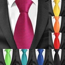 Gravatas de xadrez clássicas para casamento, gravatas de listras azuis para negócios e casamento de 8cm de largura gravatas masculinas