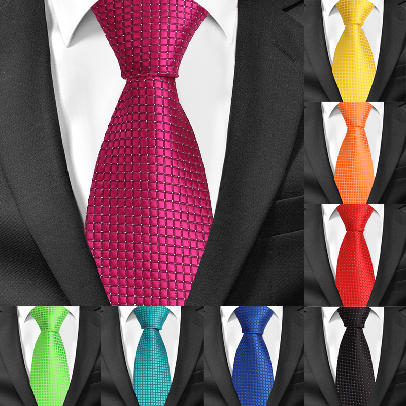 Classic Plaid Neck Ties for Men Casual Suits Tie Gravatas Stripe Blue Mens Neckties For Business Wedding 8cm Width Men Ties(China)
