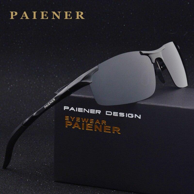 Aluminio y magnesio Gafas de sol polarizadas deportes hombres mujeres revestimiento espejo conducción Sol Gafas oculos hombre gafas Accesorios