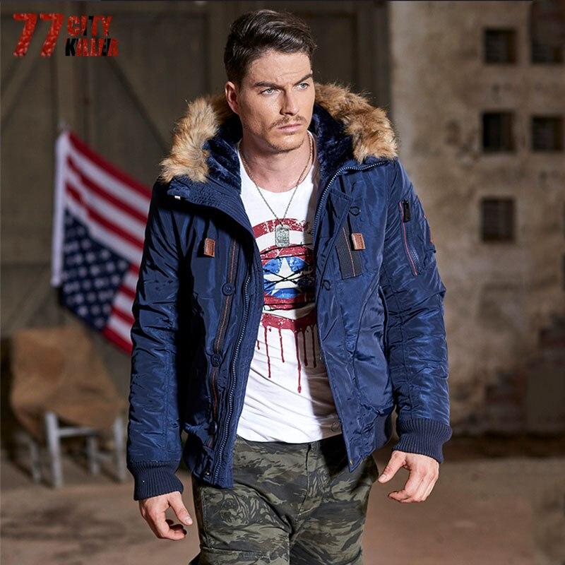 77 City Killer 3XL Hommes D'hiver Casual New Capuche Épais Rembourré Veste Zipper Slim Outwear Chaud Marque Vêtements Top Qualité P914