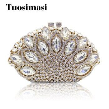 New design hard case box clutch evening bag ladies handbags purse gold and sliver party wedding bag(8753A-GS)