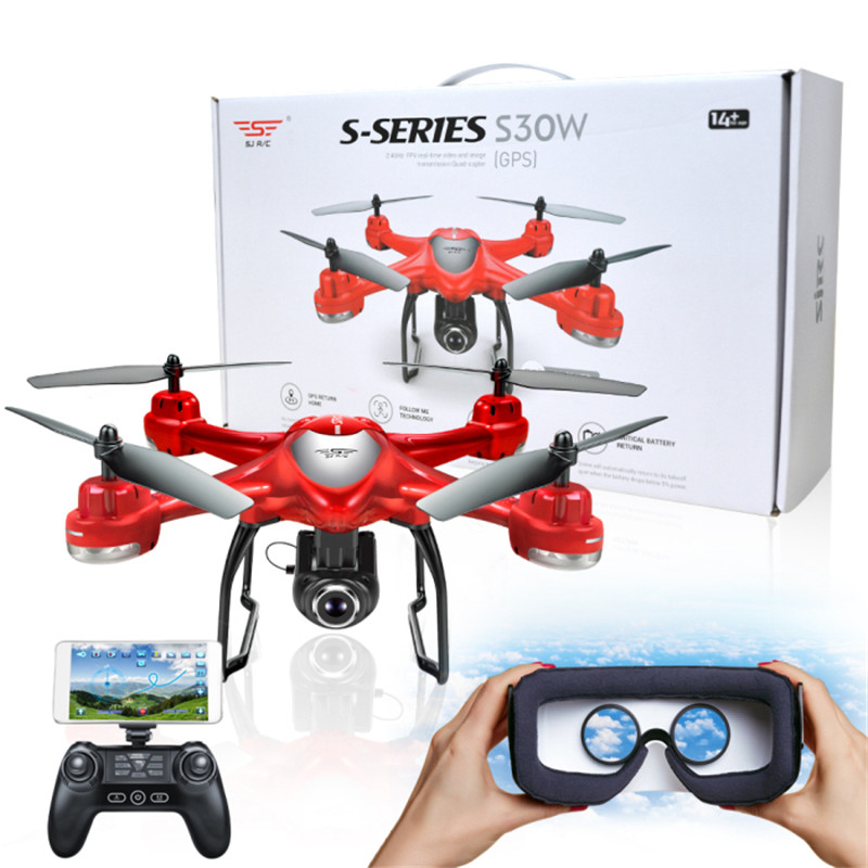 S-SERIES S30W Double GPS Dynamic Follow WIFI FPV With 720P Wide Angle Camera RC Drone Quadcopter Racing VS MJX Bugs6 in stock mjx bugs 6 brushless c5830 camera 3d roll outdoor toy fpv racing drone black kids toys rtf rc quadcopter