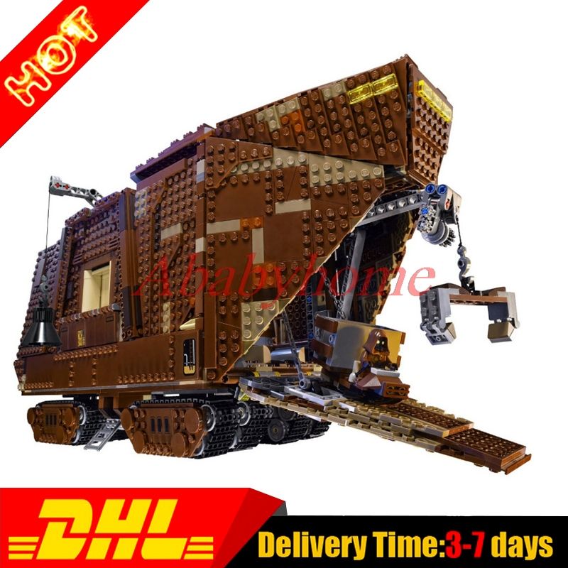 In Stock 2016 LEPIN 05038 Star Wars Sandcrawler Building Blocks Model Toy3346pcs Boy Gift Education 75059