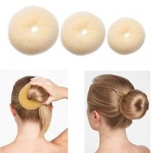Женская Губка-булочка для волос, волшебная губка-пончик, легкое большое кольцо, инструменты для укладки волос, аксессуары для волос