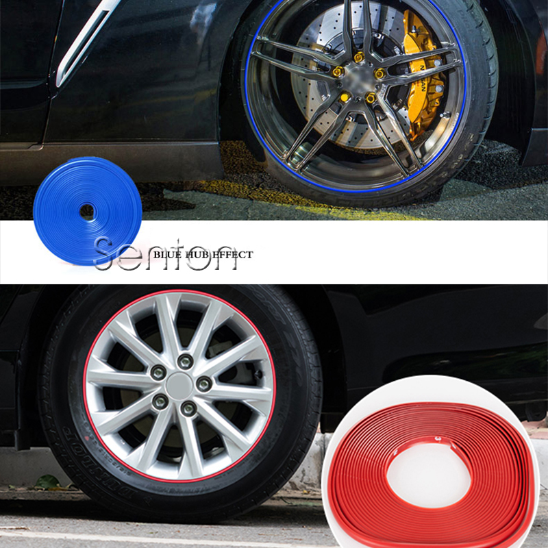 Car Wheel Hub Tire Protector Sticker For kia Rio K2 Ceed Soul Cerato Sportage Peugeot 307 206 308 407 207 Volvo XC60 S90 S60 V70 стеклоочистители kia ceed подольск