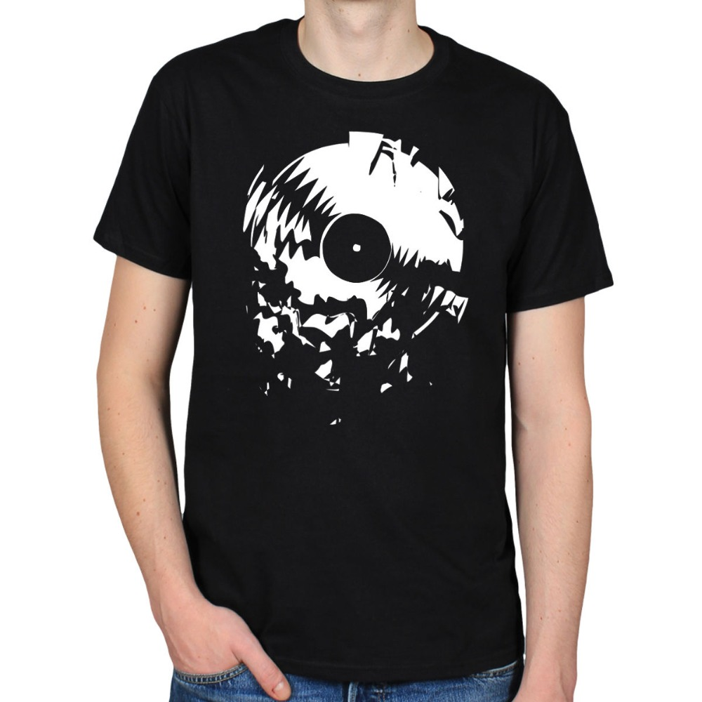2019 Hot Sale 100% cotton BROKEN RECORD SCRATCH HIP HOP RAP DJ TURNTABLE MC VINYL T-SHIRT TEE Tee shirt(China)