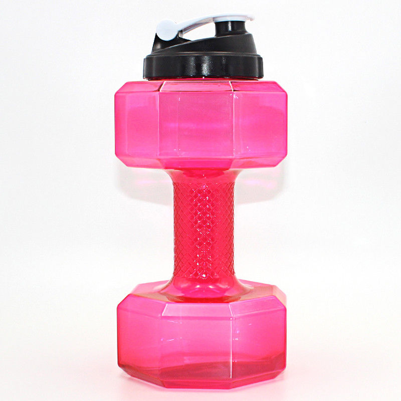 Water Bottle 2.2L Dumbbell Shaped Sport Drink Exercise Gym Protein Shake Weight