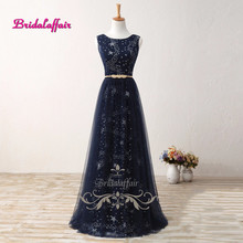 Real Photo Black Satin and Tulle Scoop A Line Evening Dresses 2017 Vestido de soriee Custom made Appliques Lace up Prom Gowns