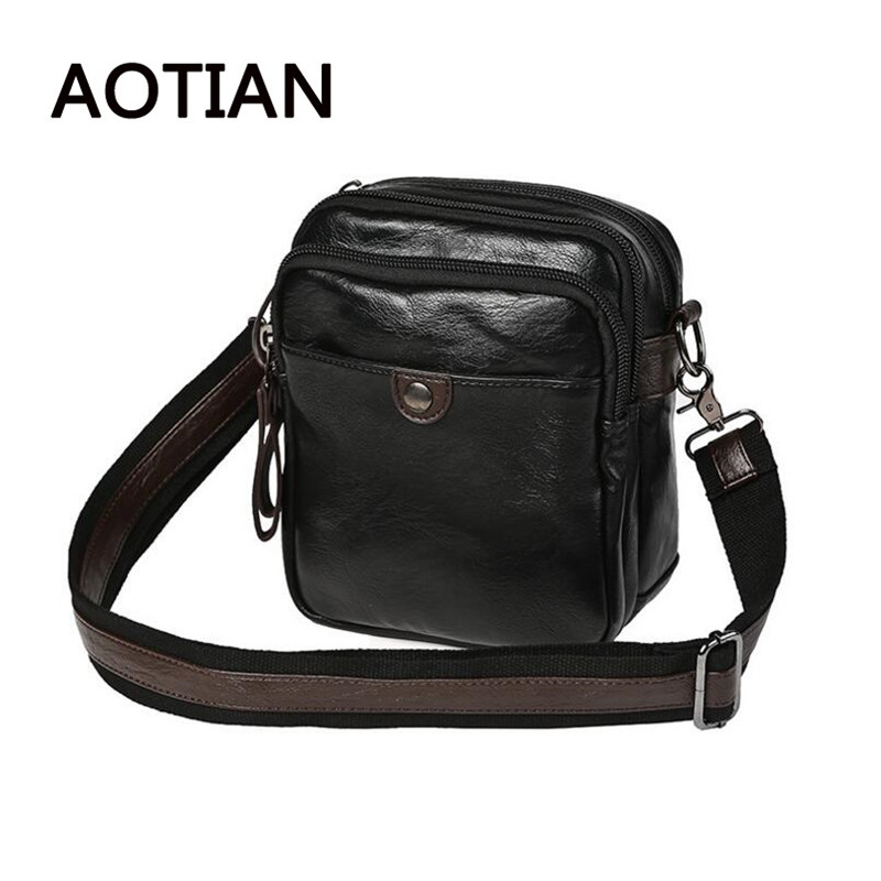 AOTIAN Brand Business Men Bag High Quality Crossbody Bags For Men Multilayer Multifunctional Small Leather Bags Handbag