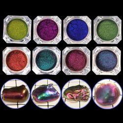 ANGELADY 1 ADET Ayna Inci Tozu Epoksi Reçine Glitter Bukalemun Pigment Reçine DIY Takı Yapma Araçları 8 Renkler