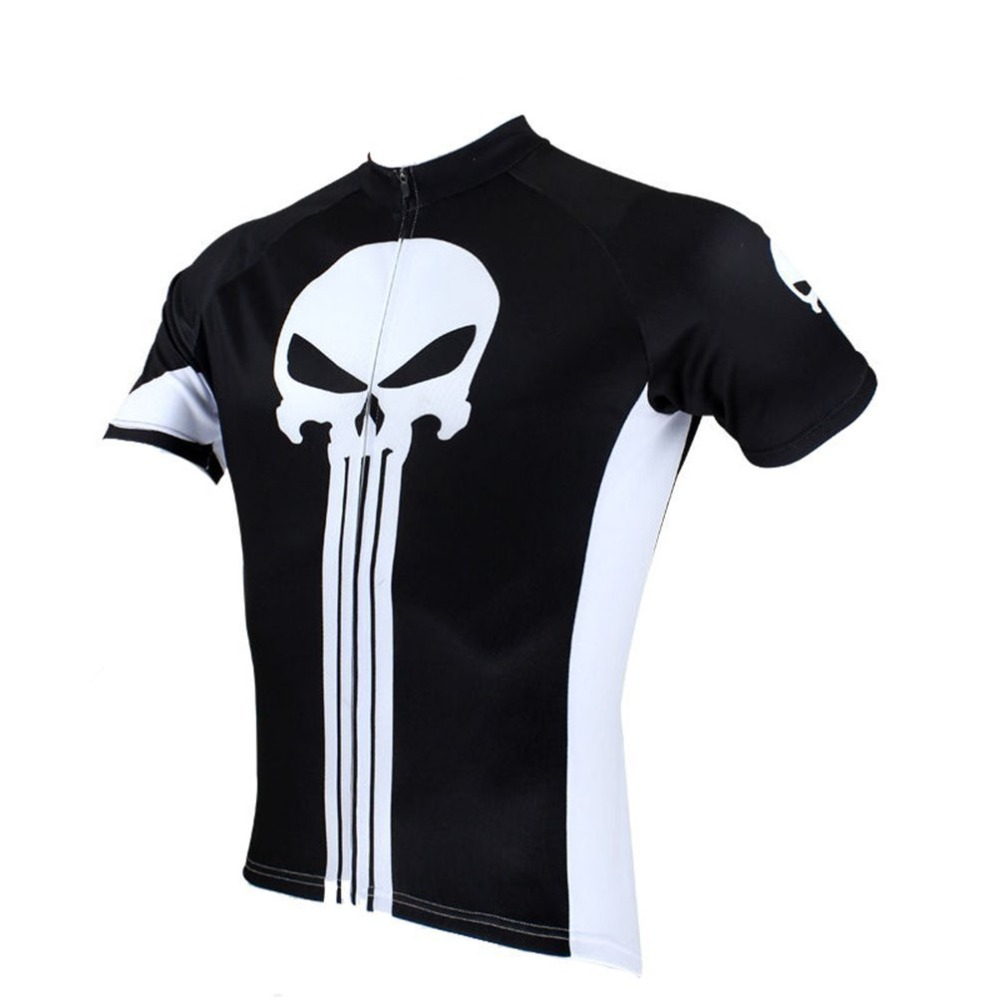 Punisher Cycling Jersey Vintage Men's Racing Sports Jerseys Bicycle Jersey MTB Bike Clothing Ropa Ciclismo Cycling Shirt Black