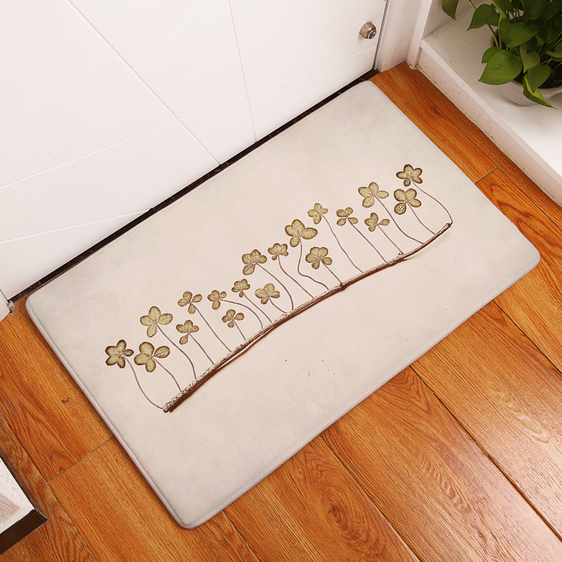 New Anti-Slip Carpets Beautiful Flower Print Mats Bathroom Floor Kitchen Rugs 40x60or50x ...