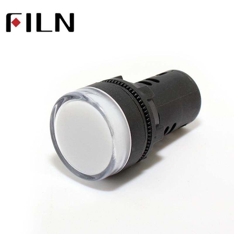 AD16 22mm Signal LED Power Indicator Light Plastic Red Green Blue White Yellow 12v 24v 220v
