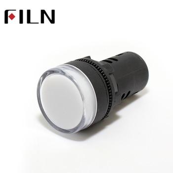 цена на AD16 22mm signal LED power indicator light plastic red green blue white yellow 12v 24v 220v