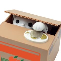 Cute Design Piggy Bank Itazura Cat Steal Money Coin Box Piggy Bank Electronic Plastic Money Safety Box Kids Gift