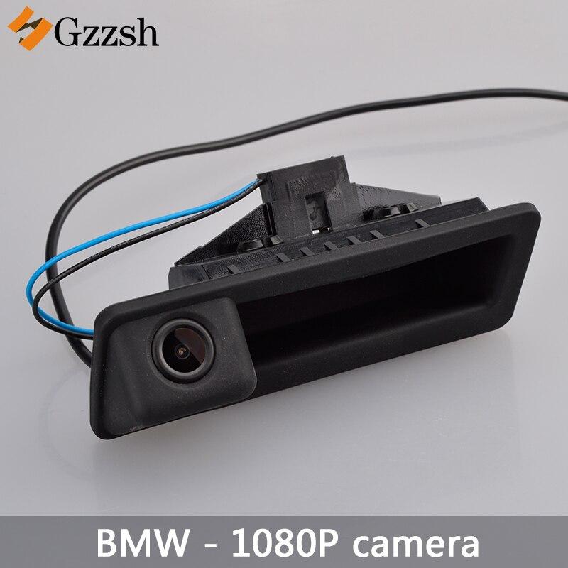 1080P voiture HD Caméra de Recul pour BMW X5 X1 X6 E39 E53 E82 E88 E84 E90 E91 E92 E93 E60 E61 E70 E71 E72 Remplacement poignée de coffre