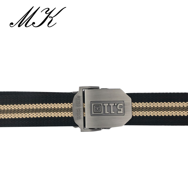 Maikun Canvas Belts Automatic Buckle Military Metal Tactical Casual-Style Men