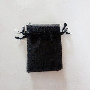 Image 4 - 1000 adet Siyah hediye keseleri Için takı çantaları Ve Ambalaj organze çanta İpli Çanta Düğün/Kadın Seyahat Depolama Ekran Torbalar