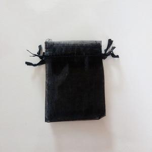 Image 4 - 1000 шт. черные подарочные пакеты для ювелирных изделий и упаковки, Сумка из органзы, сумка на шнурке, Свадебные/женские дорожные мешочки для хранения и демонстрации