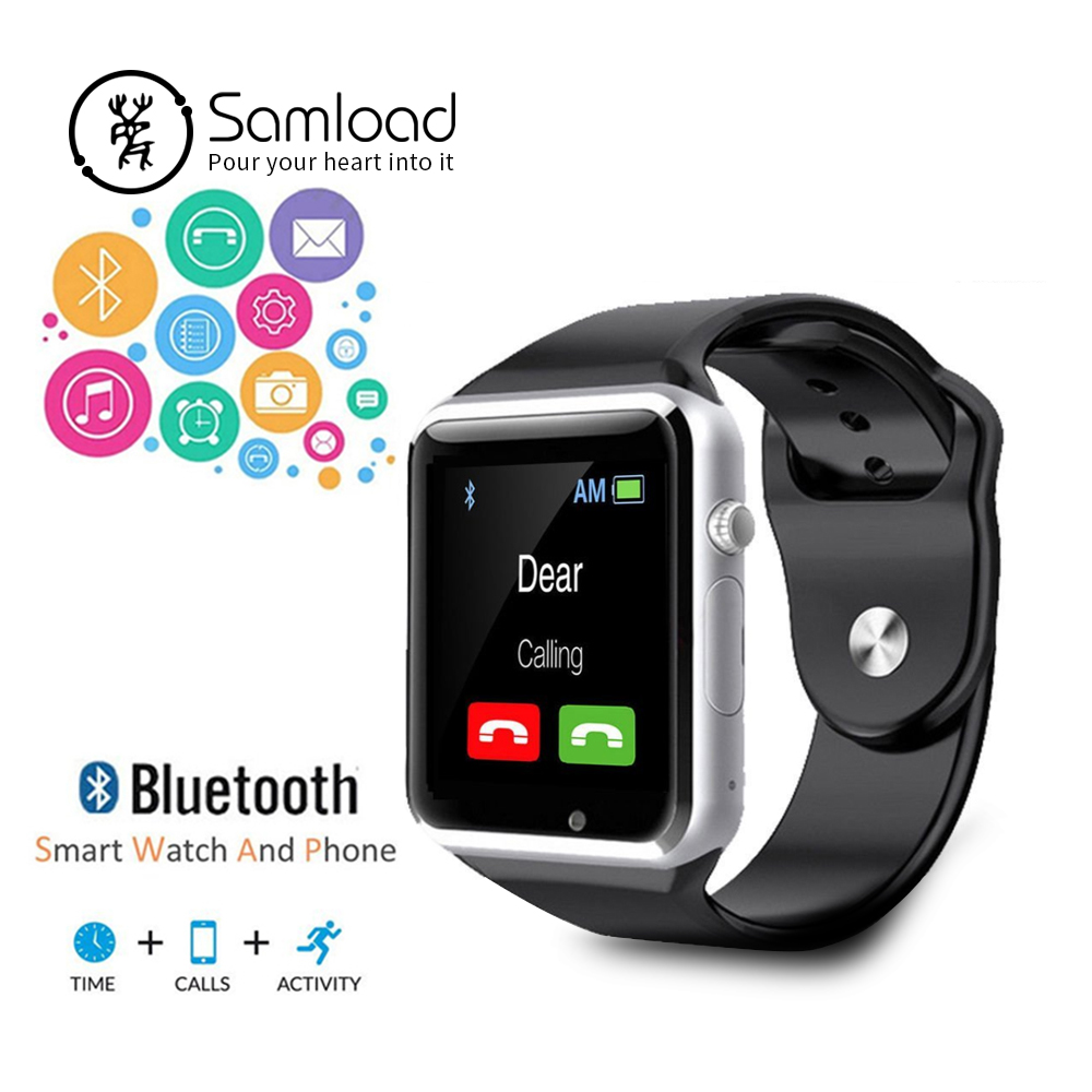 Samload A1 Smart Watch With Passometer Camera SIM Card Call Smartwatch For Xiaomi Huawei HTC Android Phone Better Than GT08 DZ09 smartwatch a1 bluetooth smart watch for samsung s5 s6 htc huawei lg xiaomi android phone u80 altitude met