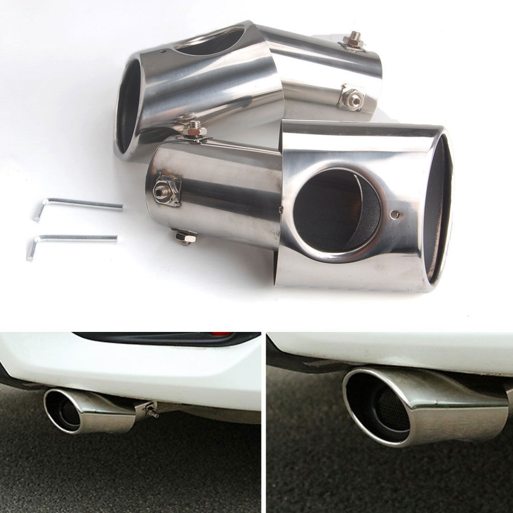 BBQ@FUKA Stainless steel Rear Exhaust End Tail Pipe Muffler Tip Fit For Honda Car-styling Accessory цены