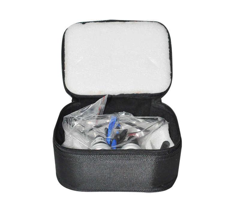 Высокого класса люкс New стоматолог черный стоматологические хирургические Спецодежда медицинская Бинокулярные лупы 3.5x420 мм оптический Стекло лупа + чехол