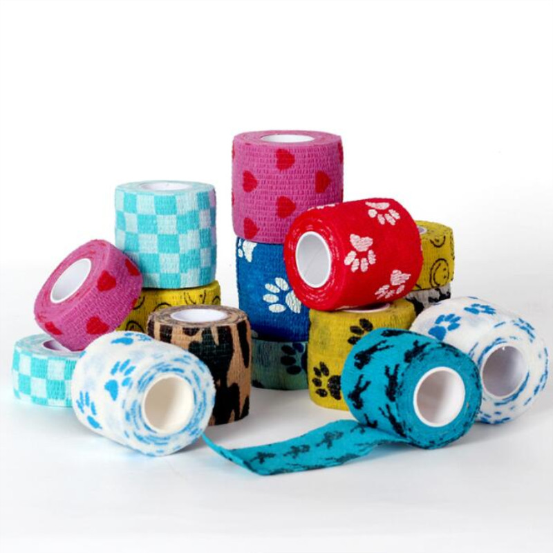 5cmx4.5m Sport Tape Waterproof Self Adhesive Elastic Bandage Muscle Tape Finger Joints Wrap Bandage Non-woven Cohesive Bandage