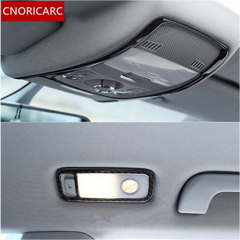 Cnoricarc Carbon Fiber Car Roof Reading Lamp Frame Decoration Cover