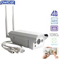 OwlCat Outdoor Waterproof Bullet IP Camera Wireless GSM 3G 4G SIM Card IP Camera Wifi 1080P