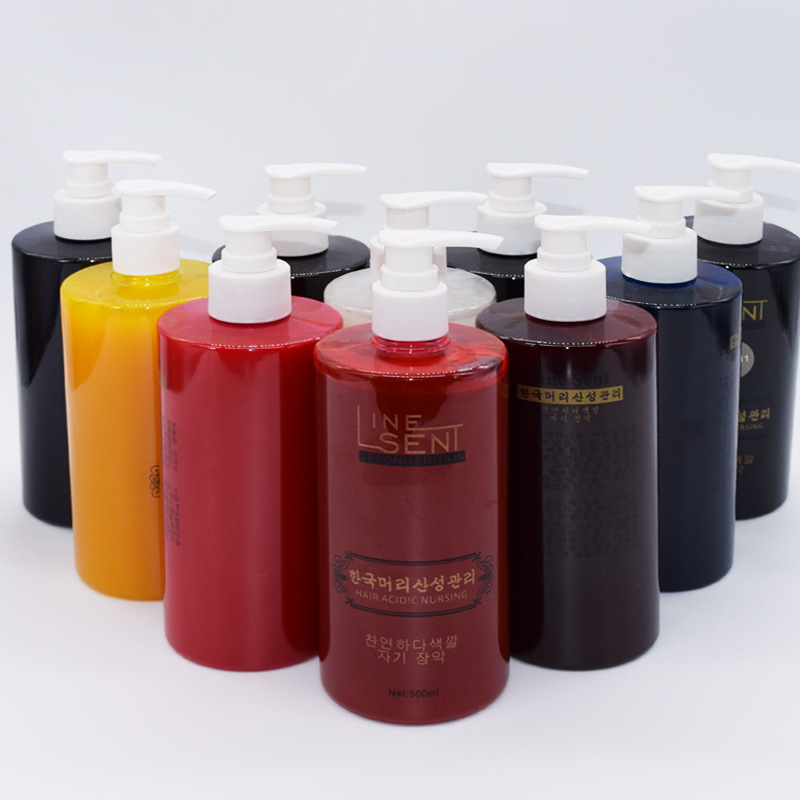 Hairdressing supplies Korea original blue color water hair waxing paste 6D acid care hair dye 500ml