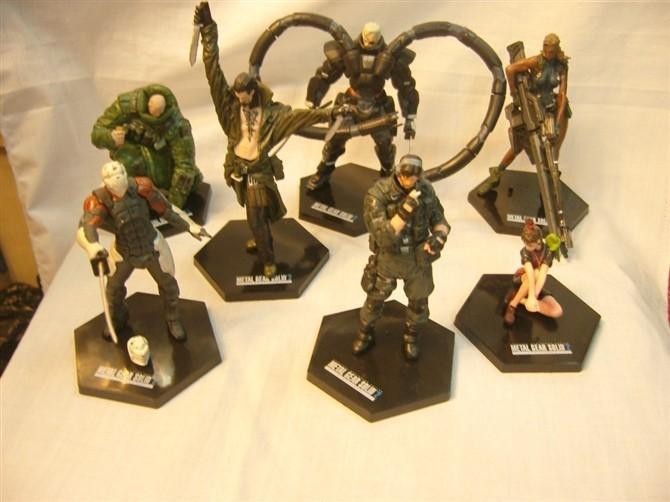 ФОТО 10set/lot EMS Free Shipping Metal Gear Solid PVC Action Figure Collection Toy Game Toys 7pcs/set MVFG100
