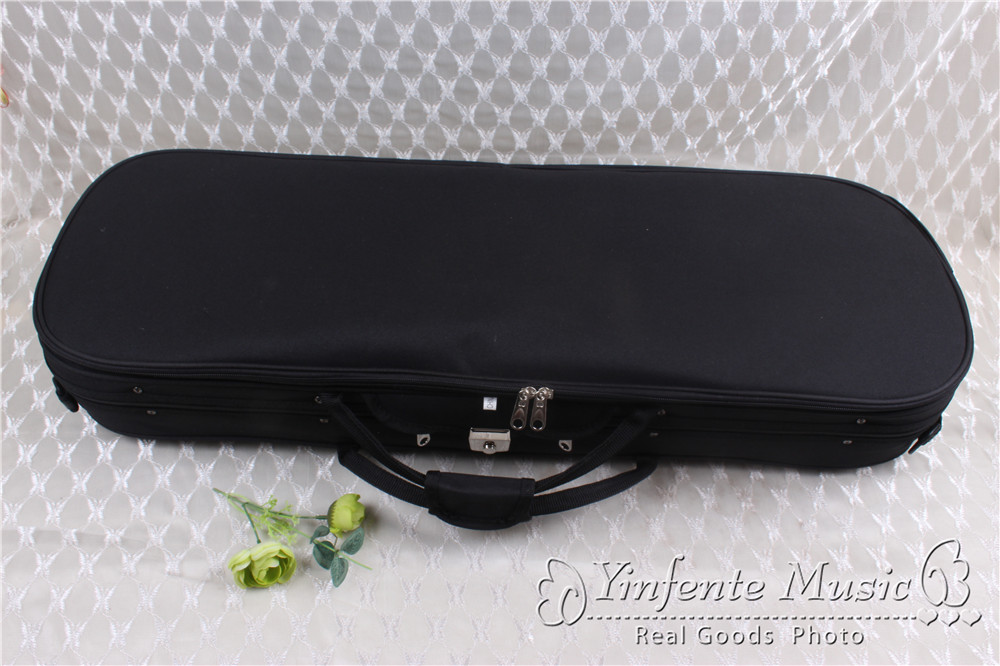 new     4/4 Violin case   #GF38 handmade new solid maple wood brown acoustic violin violino 4 4 electric violin case bow included