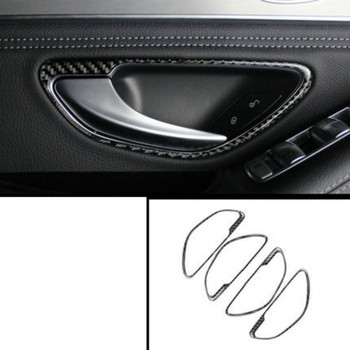 lsrtw2017 carbon fiber car interior door handle frame trims for mercedes benz w205 x253 glc200 glc300 glc260 c180 c200 c300 image
