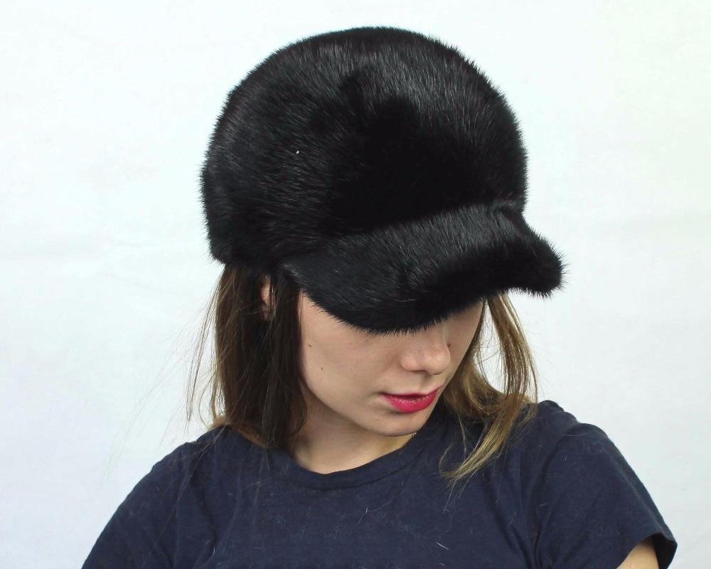 0fd193b3e41eb Linhaoshengyue el verdadero sombrero de piel de visón moda cubierto ...