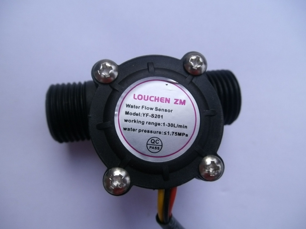 NEW G1/2 Water Flow Hall Sensor Switch Flow Meter Flowmeter Counter 1-30L/min hs08 pvc water flow hall sensor flowmeter counter white