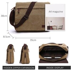 Image 2 - Scione модная однотонная холщовая сумка мессенджер с пряжкой, Повседневная Портативная сумка на плечо, корейский тренд, простая упаковка для мужчин